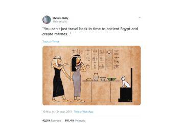Memes transformados en jeroglíficos
