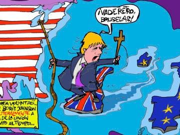 La viñeta de Alfredo Boto sobre Boris Johnson