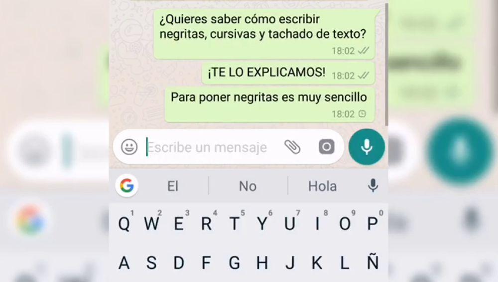 Este es el truco para cambiar el tipo de letra de WhatsApp