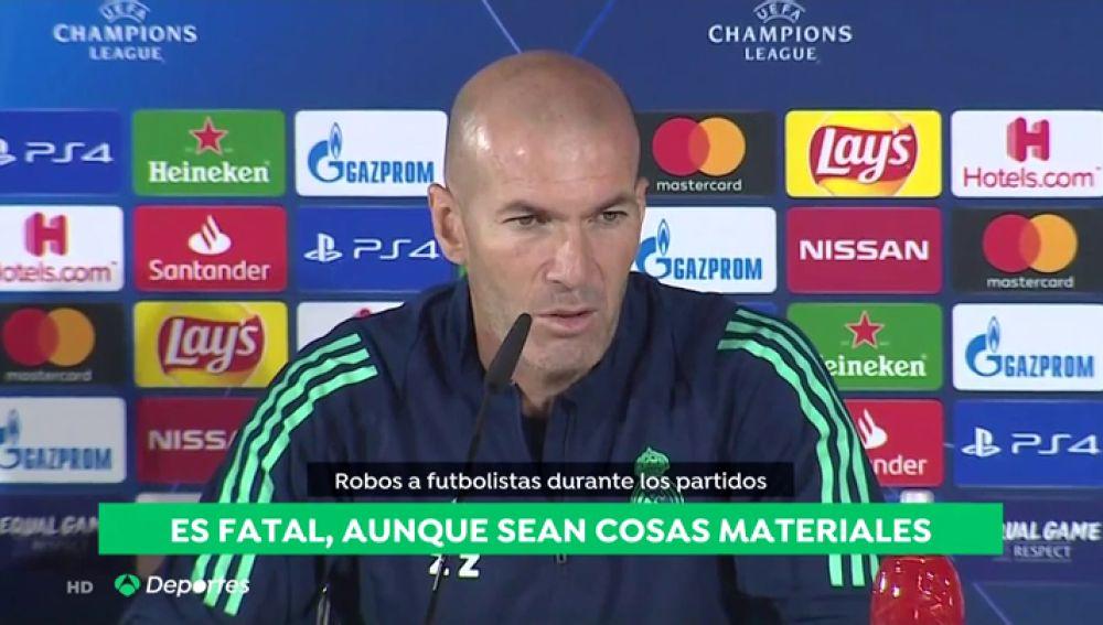 """Zidane, preocupado por la oleada de robos: """"Lo vivimos fatal"""""""