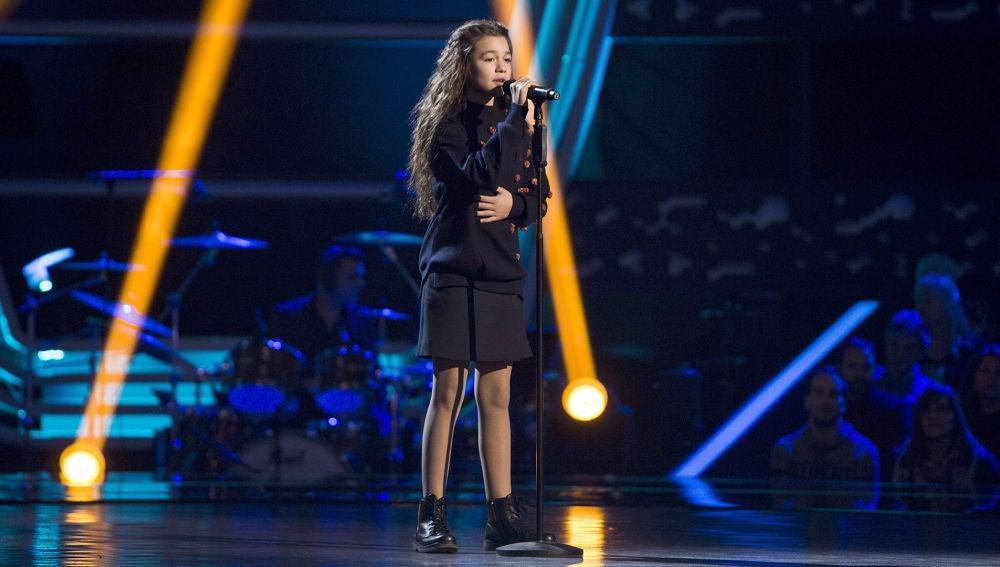 Yara Díez canta 'Qué hay más allá' en las Audiciones a ciegas de 'La Voz Kids'