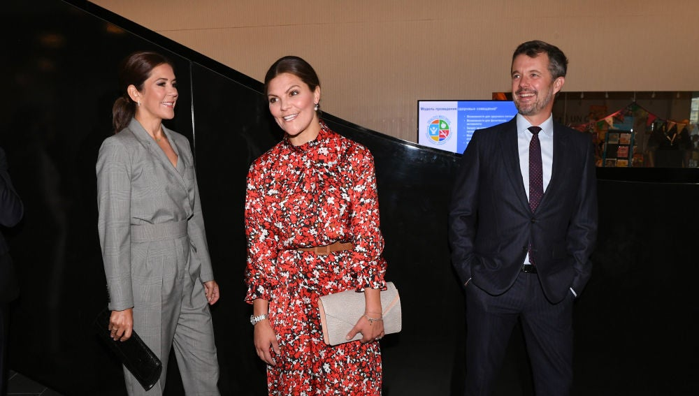 La princesa Victoria de Suecia, Mary de Dinamarca y su marido el príncipe Federico