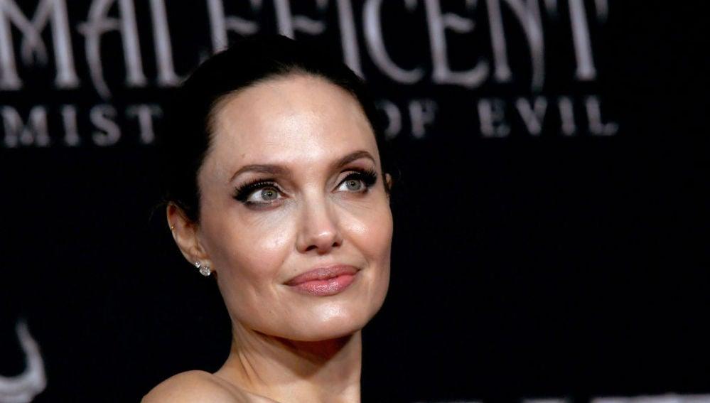 Angelina Jolie en la premiere de 'Maléfica 2'