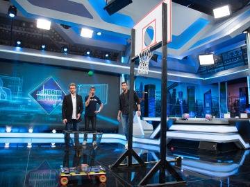 Marron sorprende a Rudy Fernández en 'El Hormiguero 3.0' con el triple científico
