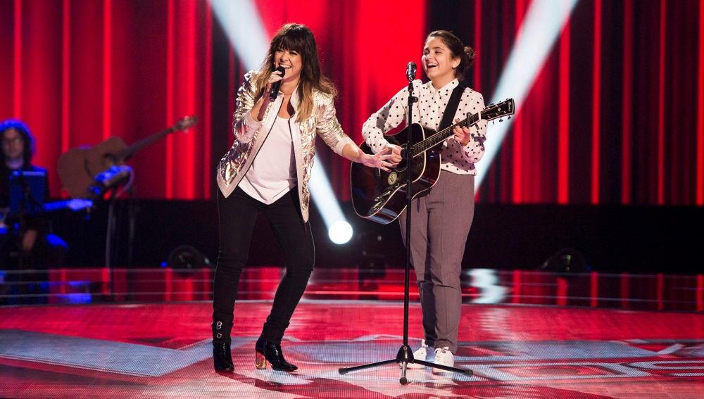 Vanesa Martín e Isabel Marsal cantan 'Borracha de amor' en las Audiciones a ciegas de 'La Voz Kids'