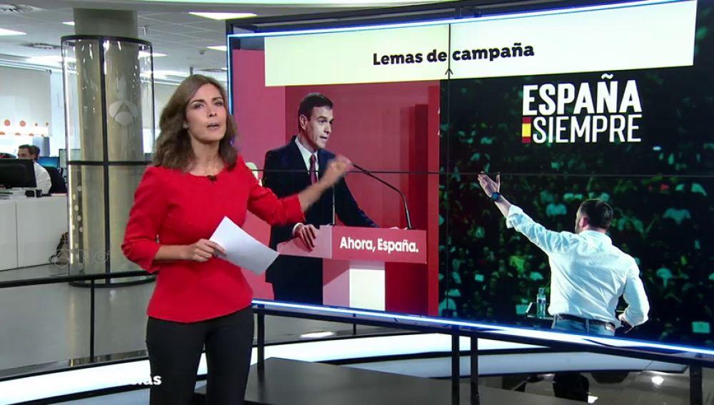 Los eslóganes de campaña: ellos, nosotros y España