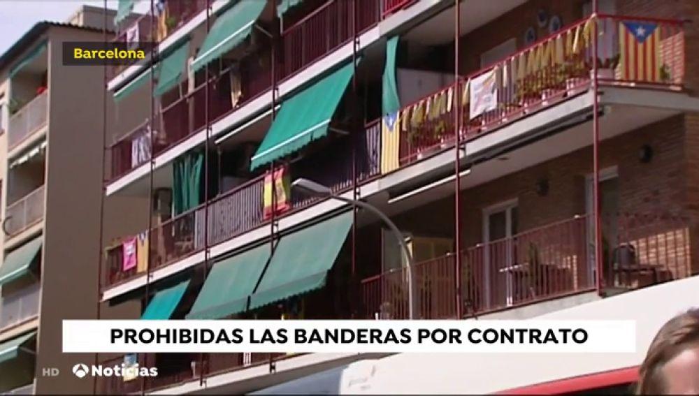 Contratos de alquiler en Cataluña con cláusulas anti-carteles y banderas en los balcones