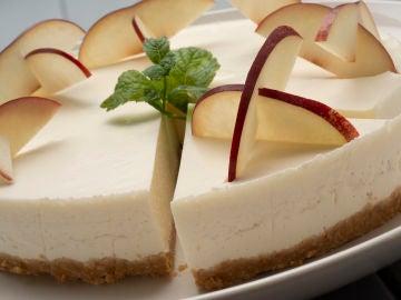 Tarta fría de briñón y queso