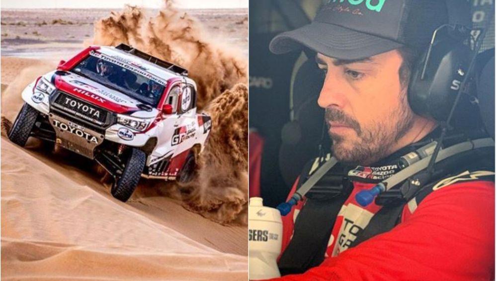 Fernando Alonso se prepara para el Rally de Marruecos