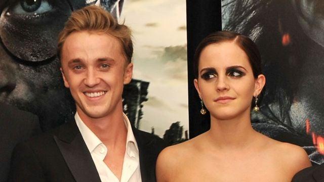 Tom Felton (Draco Malfoy) y Emma Watson (Hermione Grander), actores de 'Harry Potter'