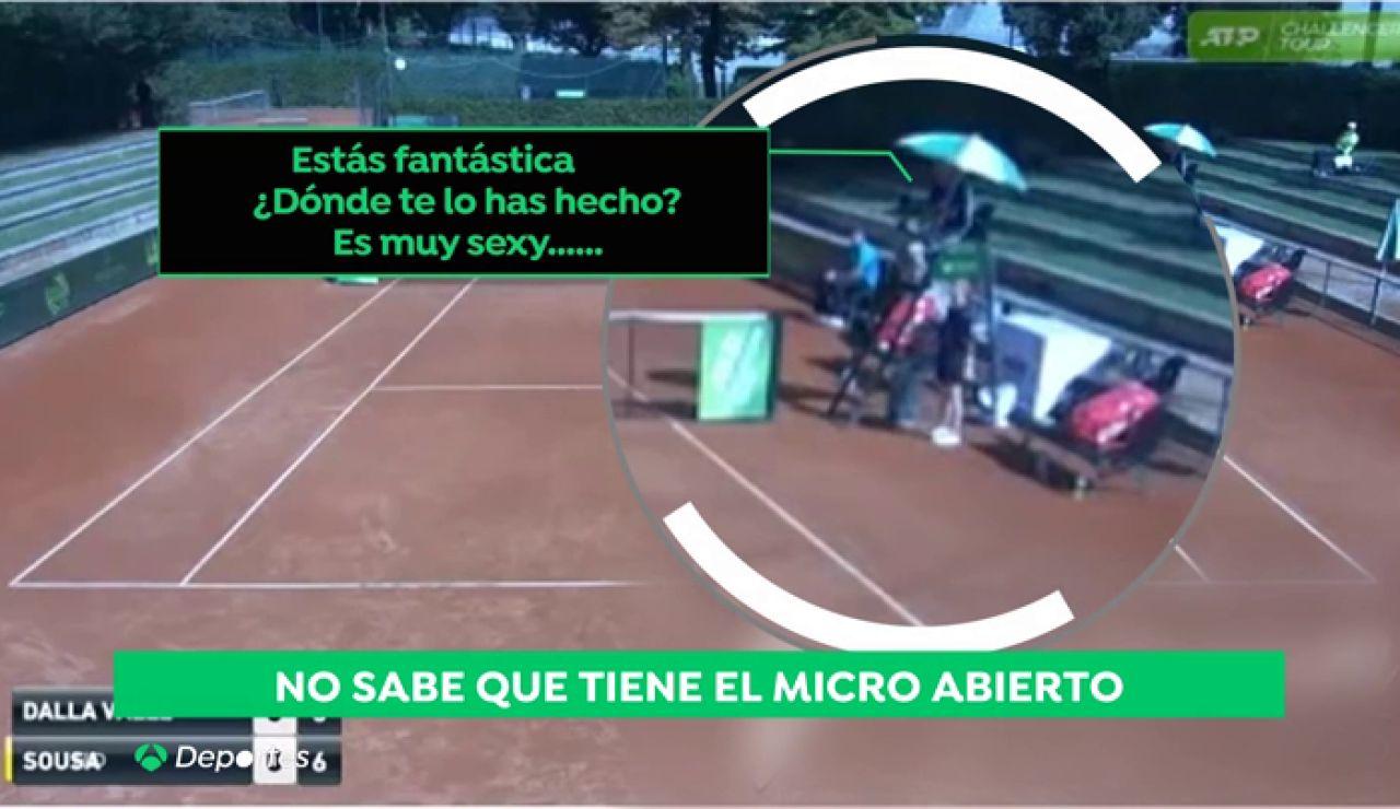"""Escándalo en el tenis por la actitud sexista de un juez de silla: """"Eres muy sexy"""""""