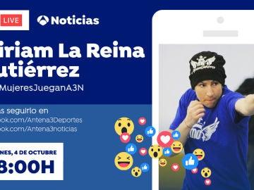 Facebook Live con Miriam La Reina Gutiérrez