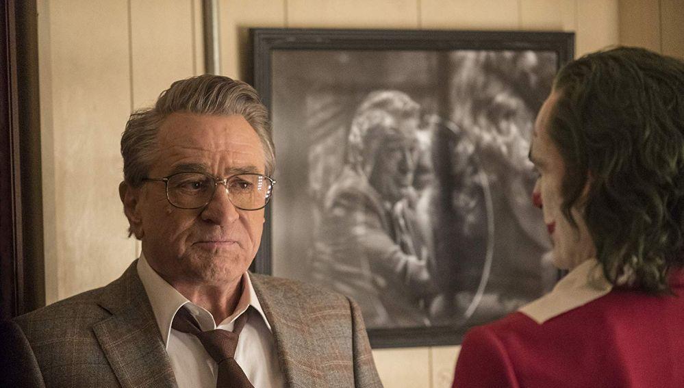 Robert De Niro con Joaquin Phoenix en 'Joker'