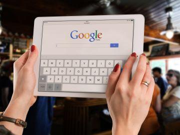 Navegador Google en una tablet