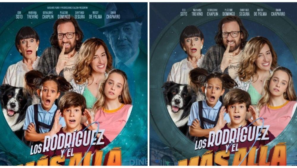 Plácido Domingo desaparece del cartel de la película 'Los Rodríguez y el más allá'