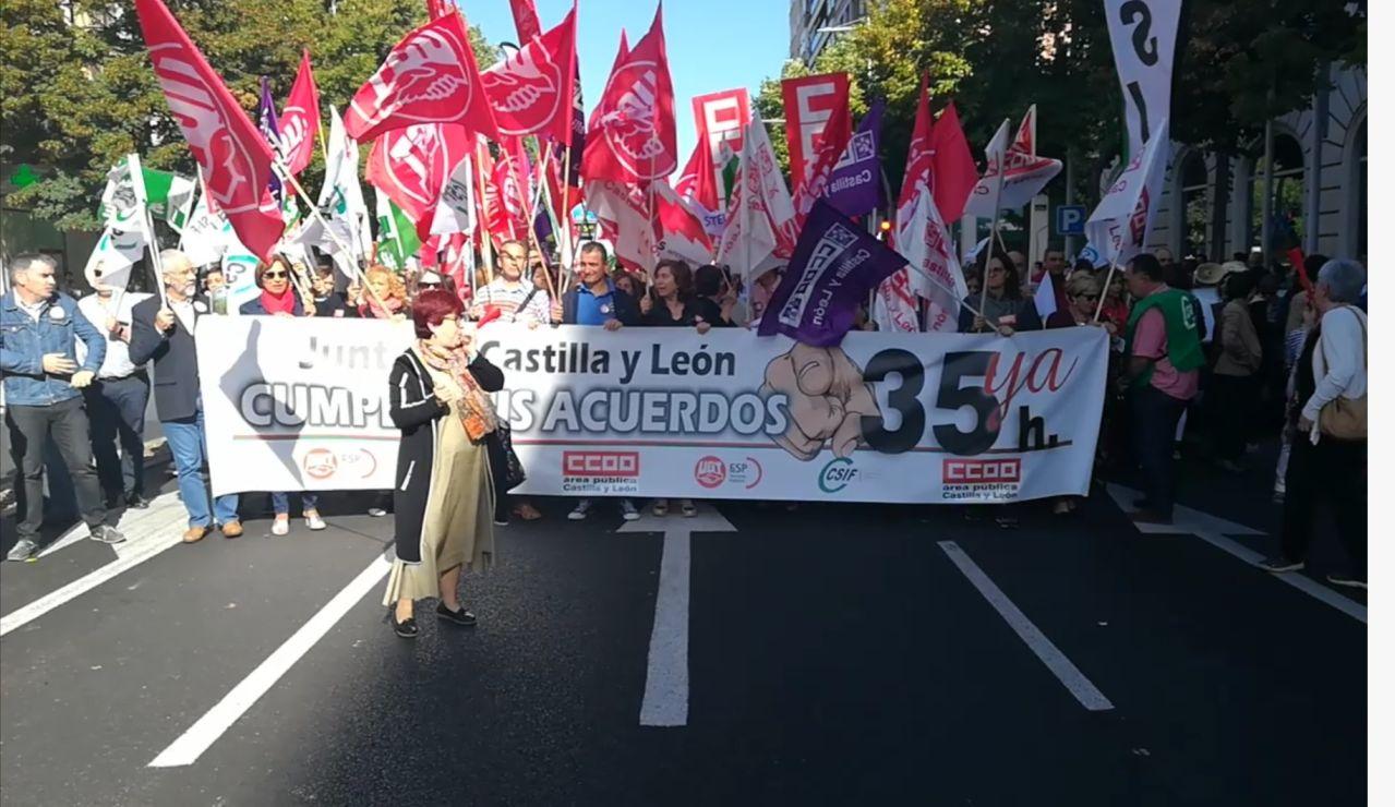 Manifestación de los funcionarios de la Junta de Castilla y León en Palencia