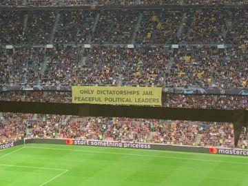 La pancarta del Camp Nou