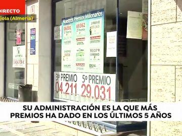Tijola, el pueblo en el que no para de tocar la lotería, tiene la mayor renta de Andalucía