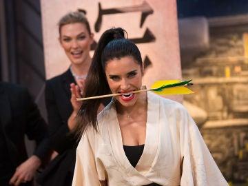 El reto imposible de Pilar Rubio en 'El Hormiguero 3.0': cortar una flecha a 180km/h