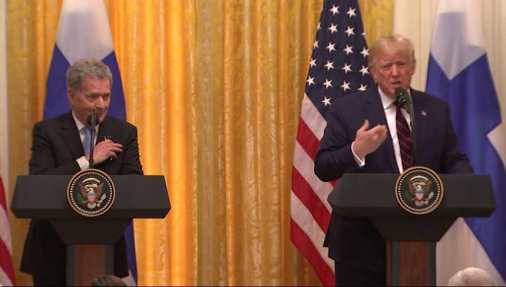 El enfado de Trump con un periodista que le pregunta por los aranceles en Europa