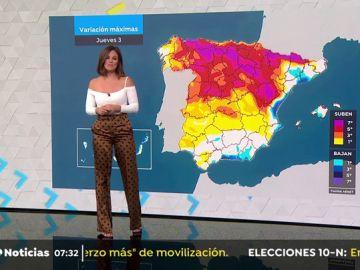 La previsión del tiempo con Mercedes Martín