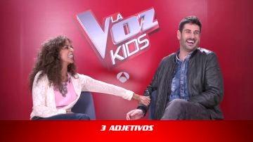 Los coaches de 'La Voz Kids' se definen unos a otros en el juego de 3