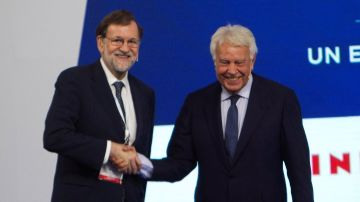 Mariano Rajoy y Felipe González
