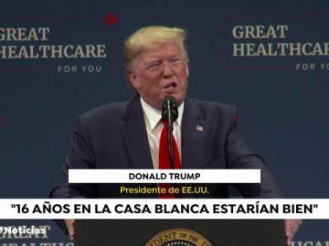 """Trump bromea con su reelección y resta importancia al """"impeachment"""""""