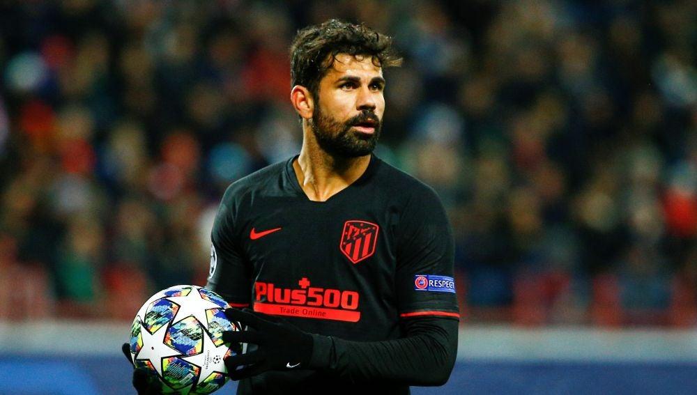 Diego Costa, durante un partido con el Atlético de Madrid