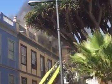 Incendio en el Ateneo de La Laguna