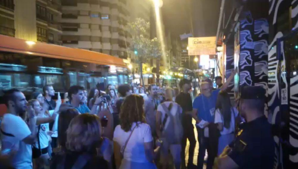 Protesta en la discoteca Indiana de Valencia