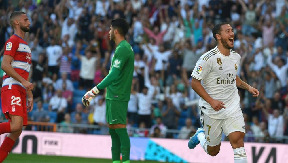 Eden Hazard celebra un gol