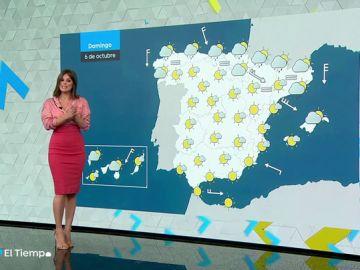 El domingo se presentará con lluvia en el Cantábrico y Cataluña y despejado en el resto