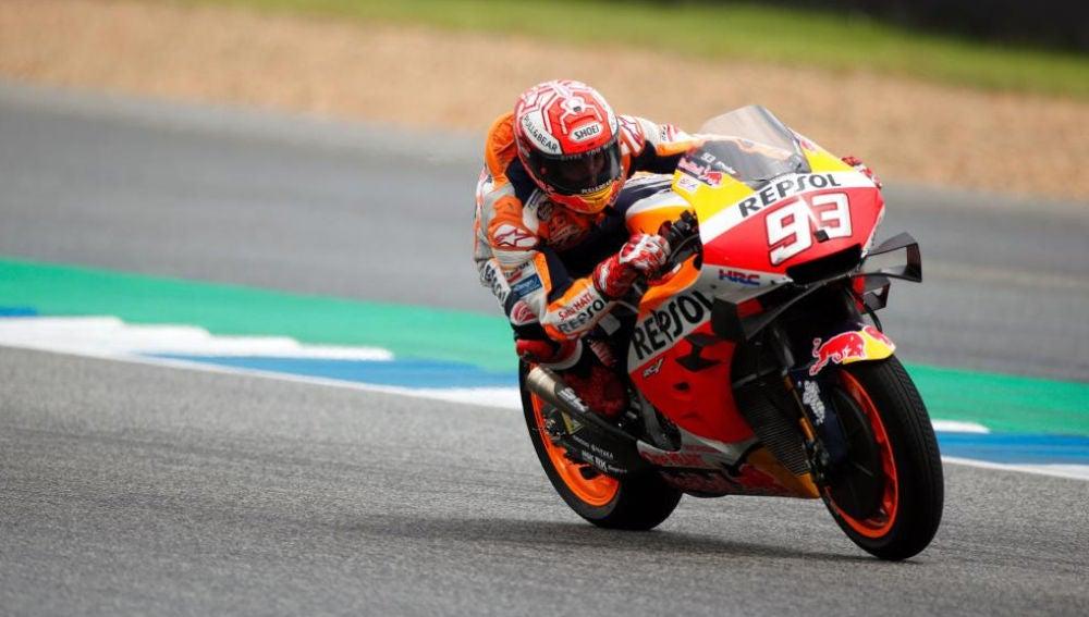 Marc Márquez durante la clasificación del GP de Tailandia