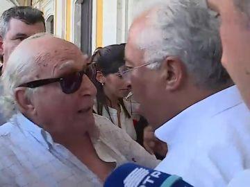 """El Primer Ministro de Portugal pierde los nervios con un ciudadano que le critica: """"Mentiroso, ¡Es mentira!"""""""