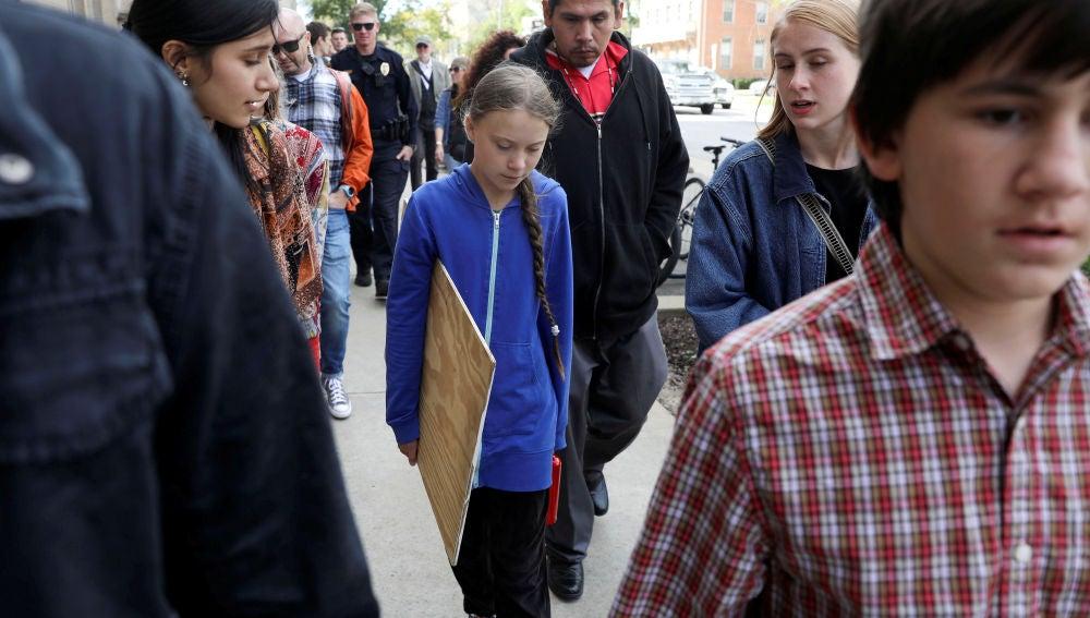Greta Thunberg en Iowa, Estados Unidos