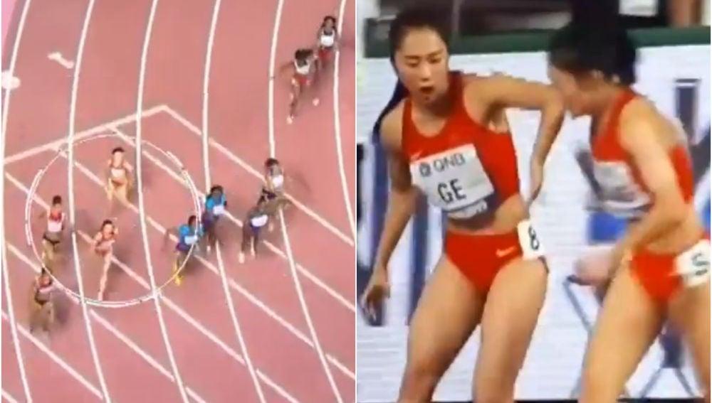 Error viral de dos atletas chinas en el mundial de Doha