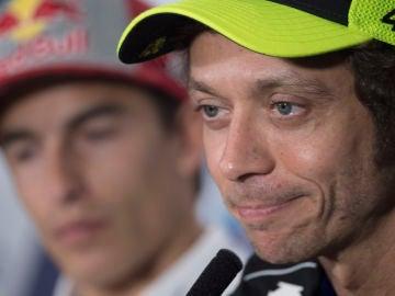 Valentino Rossi, en rueda de prensa