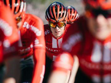 El ciclista Edo Maas, durante una etapa