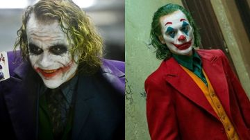 Heath Ledger y Joaquin Phoenix como el Joker