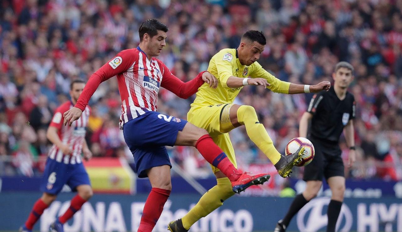 Partido entre el Atlético de Madrid y el Villarreal