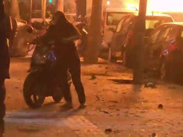 Los vecinos de Barcelona temen otra noche de incendios