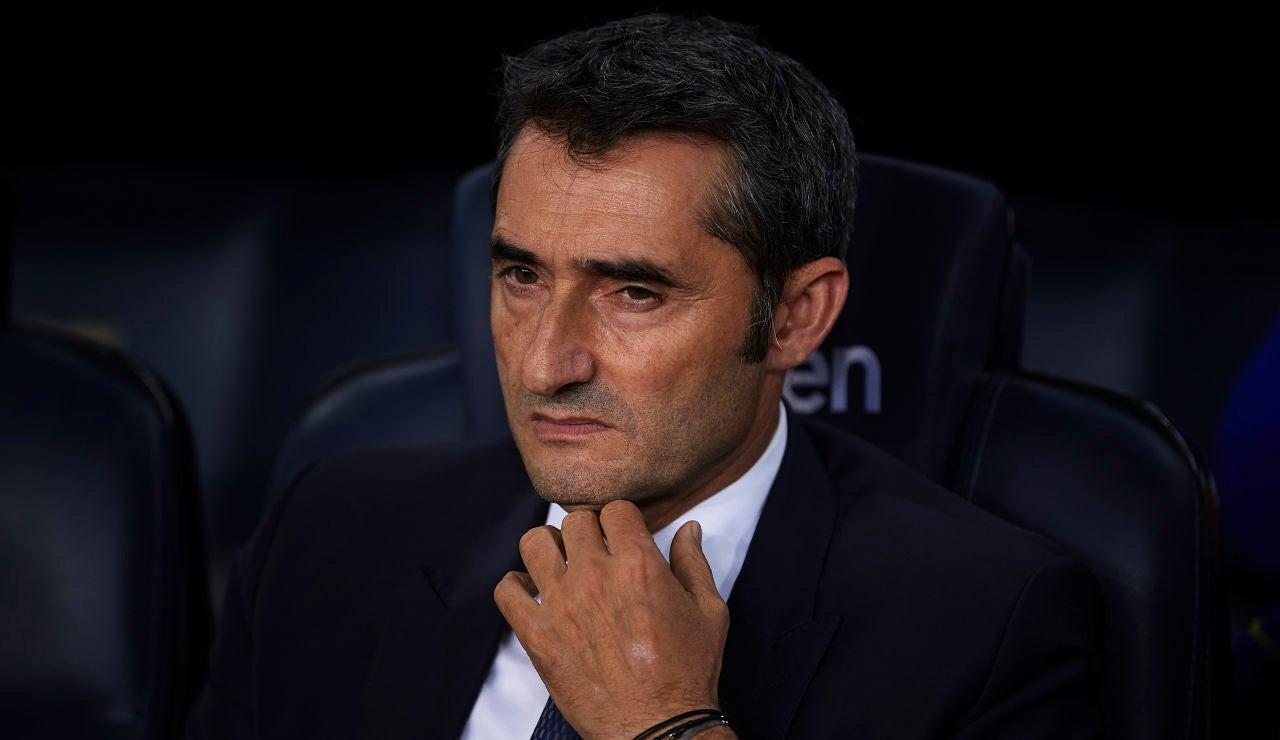 Ernesto Valverde durante un partido