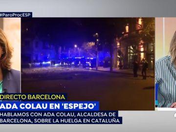 """Ada Colau: """"Se han unido a la protesta en Barcelona grupos de ultraderecha muy agresivos y violentos"""""""