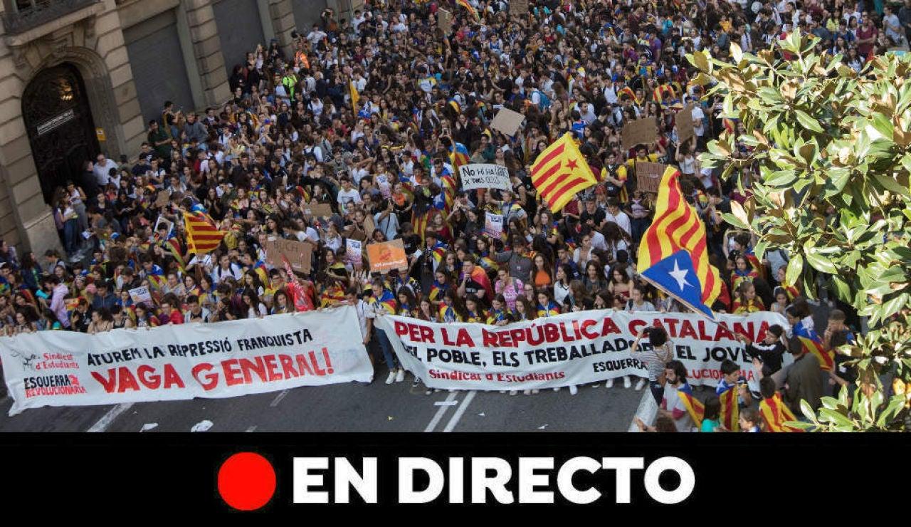 Huelga Cataluña: Última hora de Barcelona y Cataluña hoy, en directo