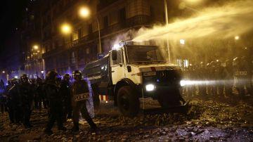 Quinta noche de protestas en Barcelona
