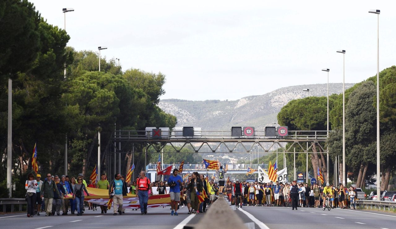 Carretera cortada Cataluña