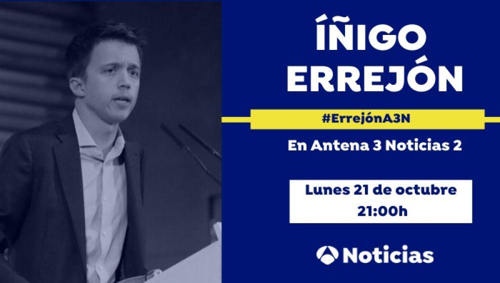 Íñigo Errejón será entrevistado por Vicente Vallés