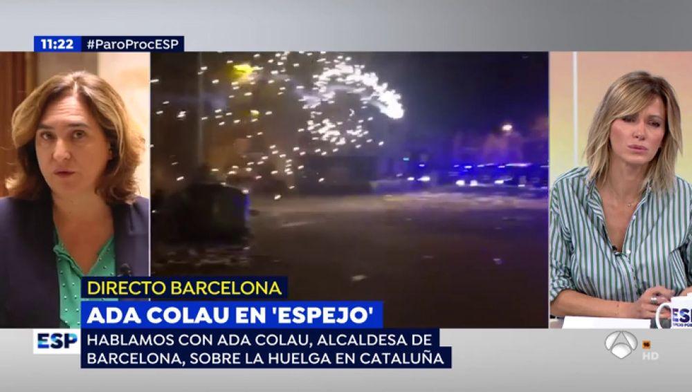 """Ada Colau: """"Se han unido a la protesta grupos de ultraderecha muy agresivos y violentos"""""""