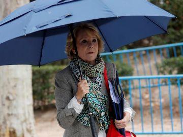 La expresidenta madrileña y exdirigente del PP de Madrid Esperanza Aguirre